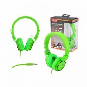 Slušalke naglavne 3,5mm zelene 1,2m