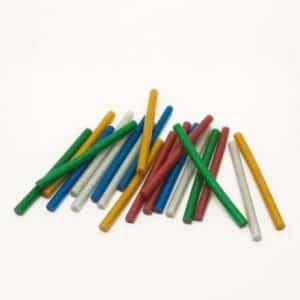 Vložki za vroče lepljenje 7mm 20 kos barvni z bleščicami