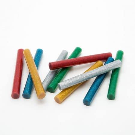 Vložki za vroče lepljenje 11mm 10 kos barvni z bleščicami