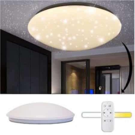 LED plafonijera z daljincem zvezdnato nebo 60cm 100W CCT 2700K - 6000K