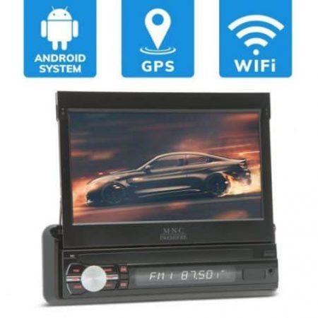 """Avtoradio 7"""" Android GPS Bluetooth 1 DIN z zaslonom na dotik"""