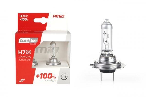 Halogenska avto žarnica LumiTec SILVER +100% H7 12V 55W 2 kosa