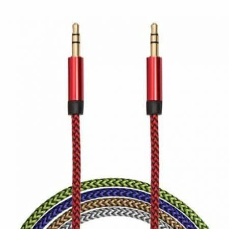 Kakovosten AUX kabel prevlečen s tkanino več barv 3,5 mm
