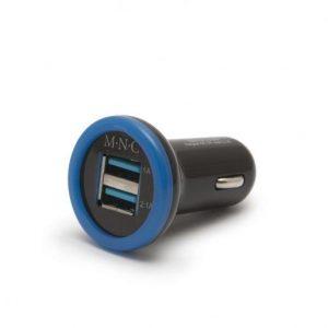 USB avtoplnilec 2xUSB - 2.1A modro črn