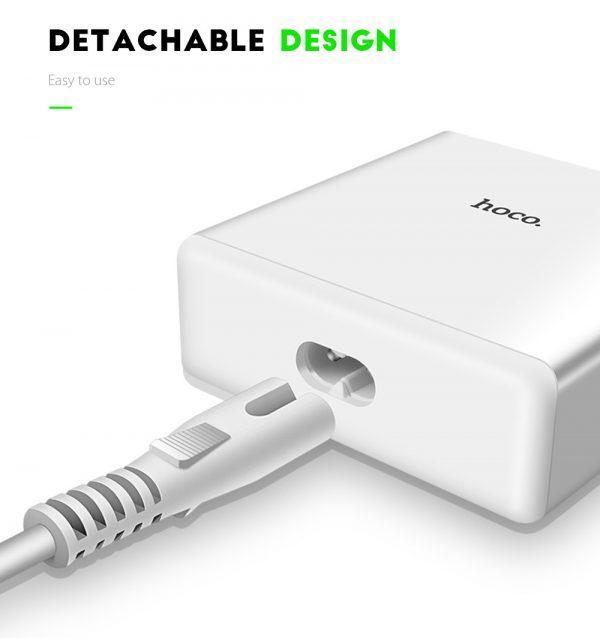 USB polnilna postaja HOCO 5v1 QC 3.0