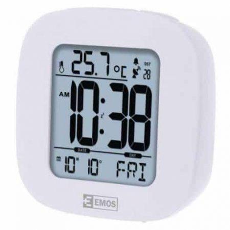 Digitalna DCF radijsko vodena budilka s termometrom in LED osvetlitvijo zaslona
