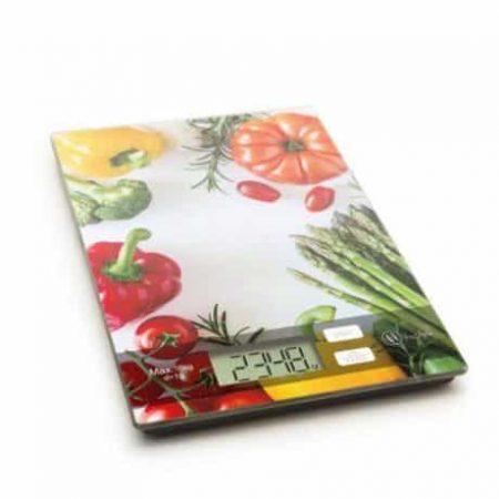 Kuhinjska tehtnica steklena zelenjava