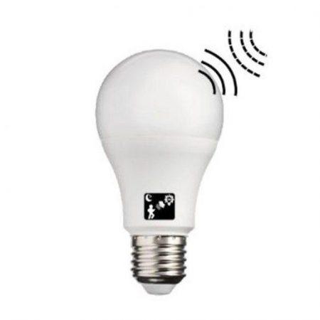 LED žarnica - sijalka E27 10W toplo bela 3000K s svetlobnim senzorjem in mikrovalovnim senzorjem gibanja