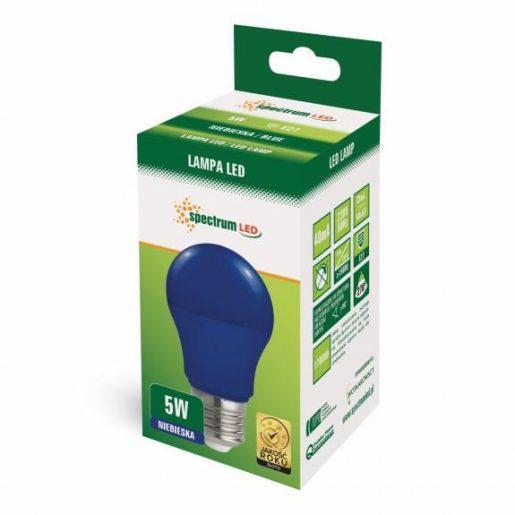 LED žarnica - sijalka E27 5W modra