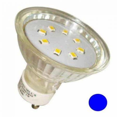 LED žarnica - sijalka GU10 1W modra