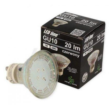 LED žarnica - sijalka GU10 1W rdeča