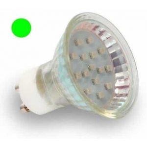 LED žarnica - sijalka GU10 1W zelena