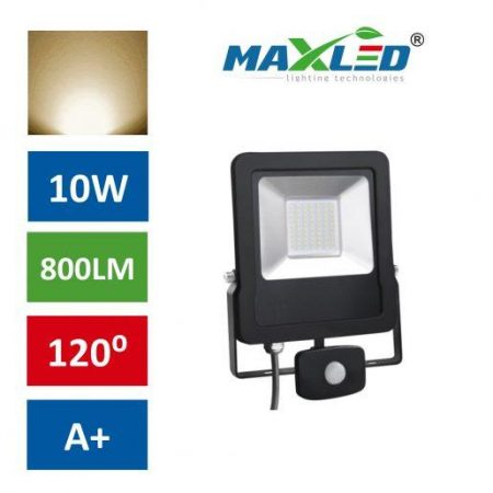 LED reflektor STAR PREMIUM 10W toplo beli 3000K s senzorjem