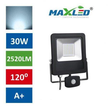 LED reflektor STAR PREMIUM 30W hladno beli 6000K s senzorjem