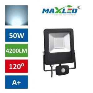 LED reflektor STAR PREMIUM 50W hladno beli 6000K s senzorjem