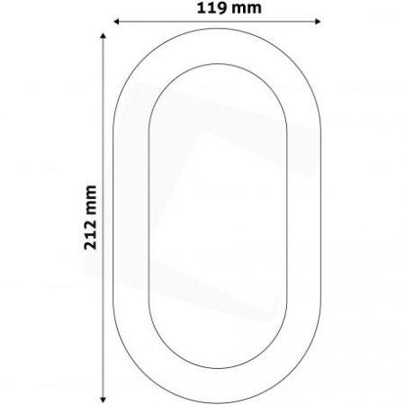 LED stropna svetilka Titania ovalna IP54 14W nevtralno bela 4000K