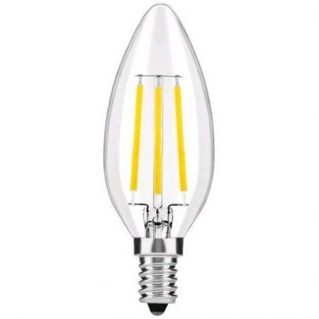 LED žarnica - sijalka E14 4W filament candle 360° nevtralno bela 4000K