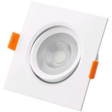 Vgradna LED svetilka downlight 38° kvadratna 6W nevtralno bela 4000K