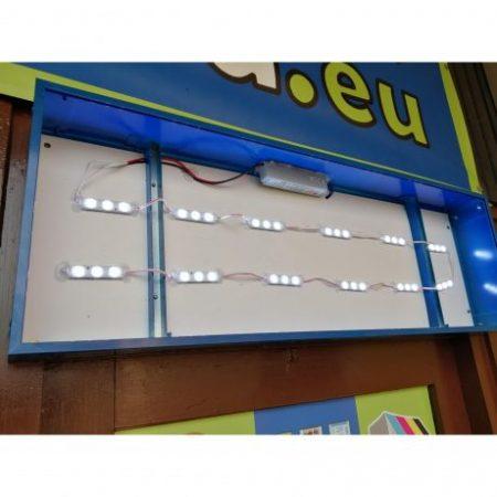 ALU LED reklamna tabla enostranska 60x60cm s tiskom in elektroniko