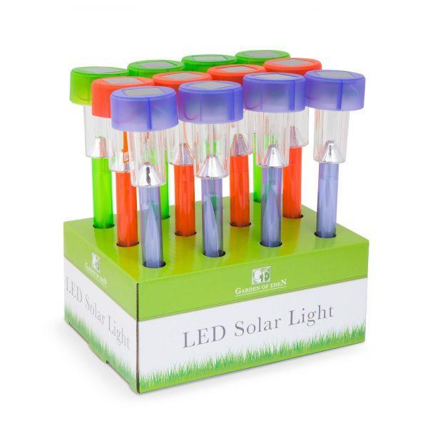 Solarna LED svetilka več barv prozorna