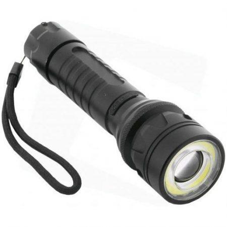 Akumulatorska ALU LED svetilka z zoomom 8W IP65