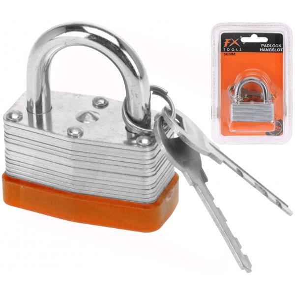 Kjučavnica železna pocinkana 50mm z dvema ključema