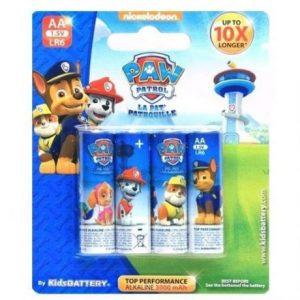 Otroške alkalne baterije kids battery tačke na patrulji paw patrol AA 4 kosi