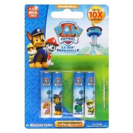 Otroške alkalne baterije kids battery tačke na patrulji paw patrol AAA 4 kosi