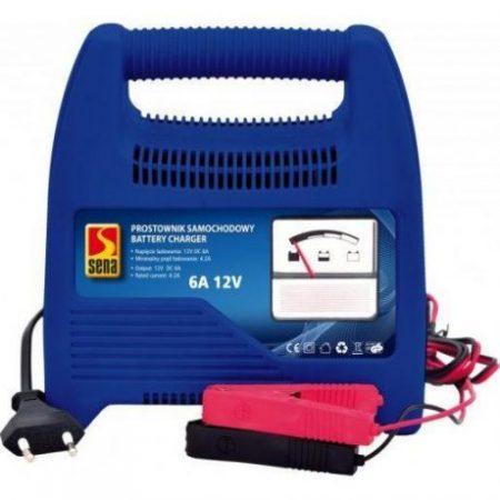 Polnilec za akumulatorje z indikatorjem stanja baterije 6A 12V