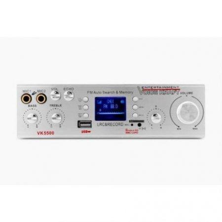 Stereo ojačevalnik FM USB SD 2x50W 2x mic