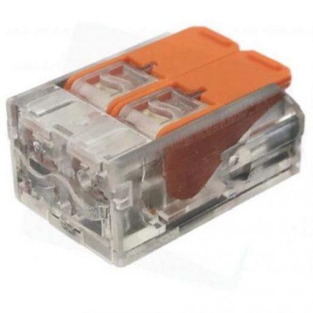Hitra sponka 2 pin 450V 32A 0.2-4mm2 trdi in mehki vodnik 10 kos