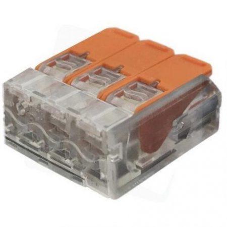 Hitra sponka 3 pin 450V 32A 0.2-4mm2 trdi in mehki vodnik 10 kos