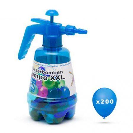 XXL set vodnih balonov 200 kos s tlačilko za polnjenje