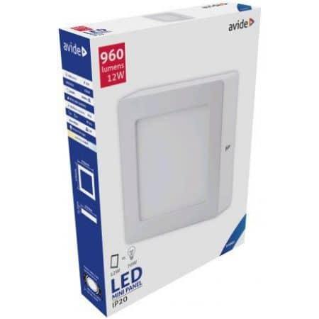 ALU LED nadgradni panel kvadratni 12W hladno bela 6400K
