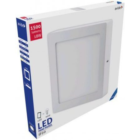 ALU LED nadgradni panel kvadratni 18W hladno bela 6400K