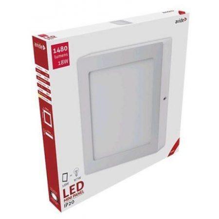 ALU LED nadgradni panel kvadratni 18W toplo bela 3000K