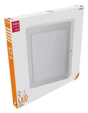ALU LED nadgradni panel kvadratni 24W nevtralno bela 4000K
