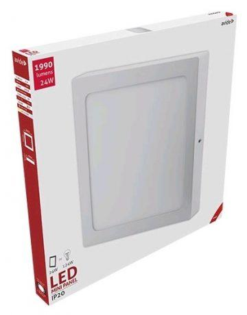 ALU LED nadgradni panel kvadratni 24W toplo bela 3000K