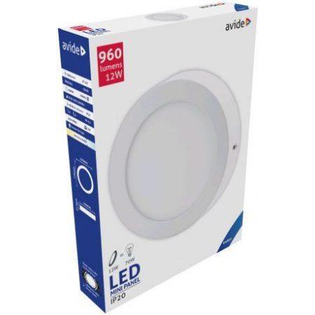 ALU LED nadgradni panel okrogli 12W hladno bela 6400K