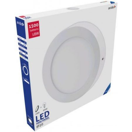 ALU LED nadgradni panel okrogli 18W hladno bela 6400K