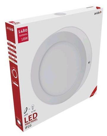 ALU LED nadgradni panel okrogli 18W toplo bela 3000K