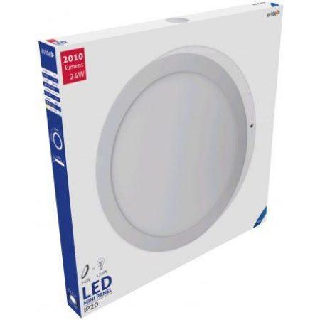 ALU LED nadgradni panel okrogli 24W hladno bela 6400K