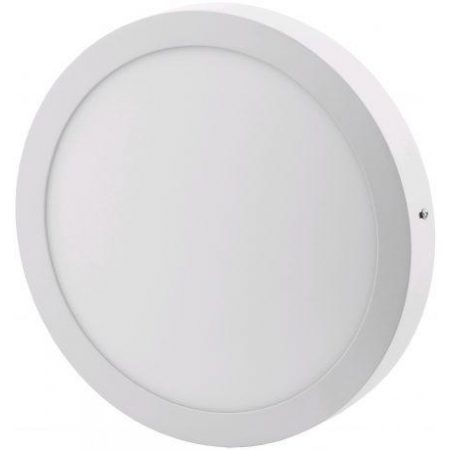 ALU LED nadgradni panel okrogli 24W nevtralno bela 4000K