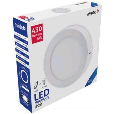 ALU LED nadgradni panel okroglii 6W hladno bela 6400K