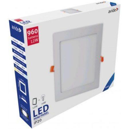 ALU LED vgradni panel kvadratni 12W hladno bela 6400K