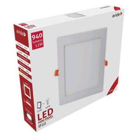 ALU LED vgradni panel kvadratni 12W toplo bela 3000K