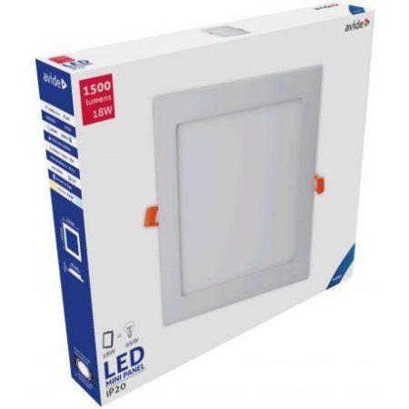 ALU LED vgradni panel kvadratni 18W hladno beli 6400K