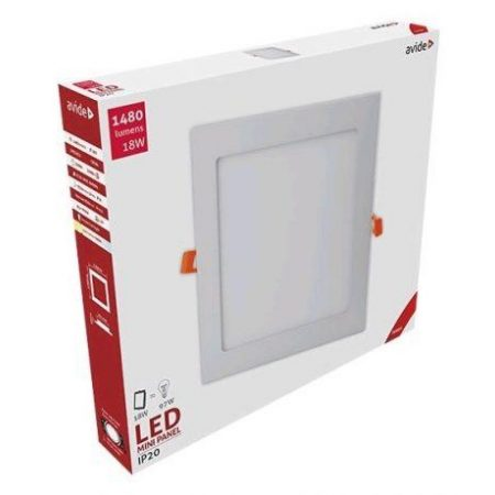 ALU LED vgradni panel kvadratni 18W toplo beli 3000K