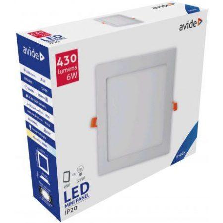 ALU LED vgradni panel kvadratni 6W hladno bela 6400K