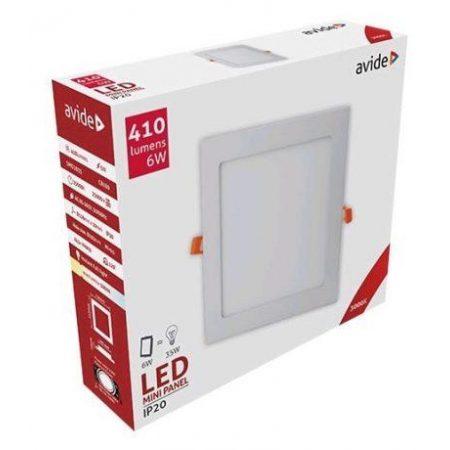 ALU LED vgradni panel kvadratni 6W toplo bela 3000K